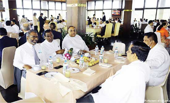 island.lk: Parliament goes ahead with traditional tea party,regardless of corona threat !